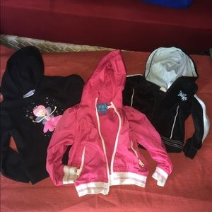 Other - Bundle of 3-toddler girl jackets